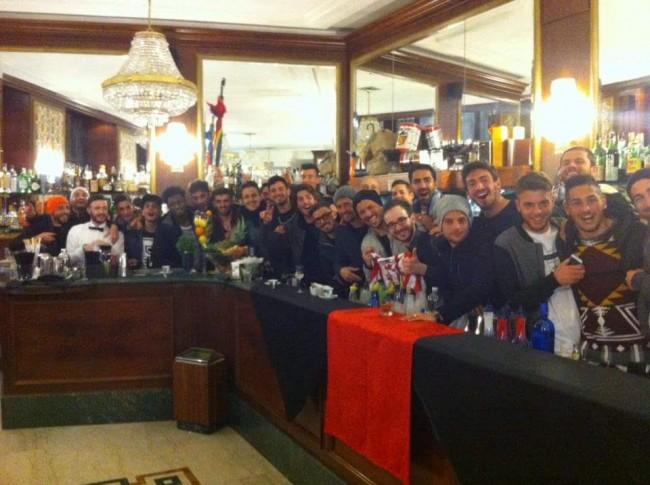 Ieri sera i giocatori della Maceratese sono stati ospiti del Caffè Venanzetti