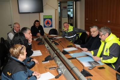La Protezione civile in riunione per il maltempo