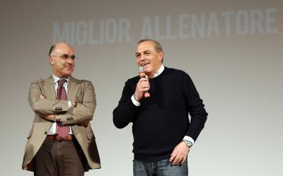 Fabrizio Castori in compagnia del direttore generale di Unimc Mauro Giustozzi