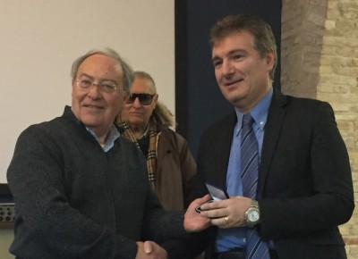 Premiazione di Andrea Verdolini per i 25 anni di iscrizione