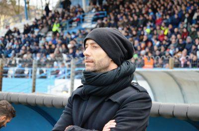 L'allenatore della Maceratese Cristian Bucchi, prossimo a diventare tecnico del Perugia