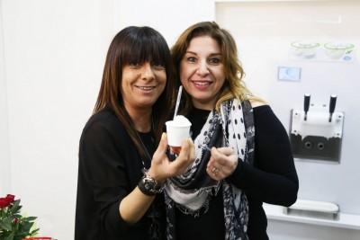 La titolareBarbara Borroni (a sinistra), con l'amica Francesca Borri