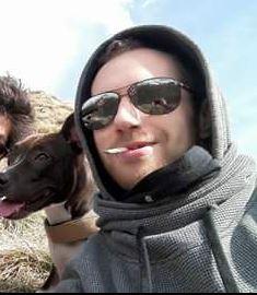 Matteo Mari in una foto scattata durante l'escursione di oggi pomeriggio