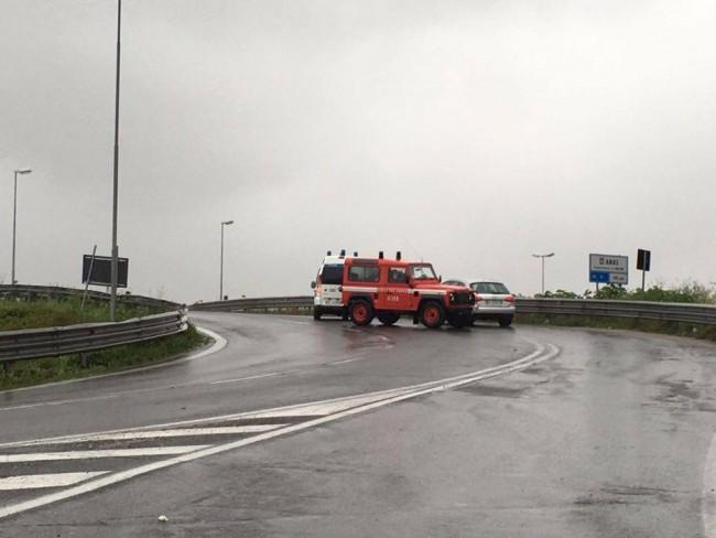 L'auto è entrata in superstrada contro mano