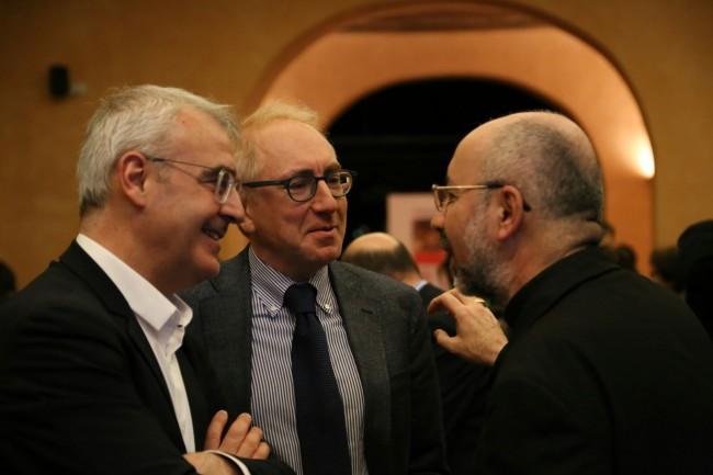 Da sinistra: Romano Carancini, Luigi Lacchè e Nazzareno Marconi
