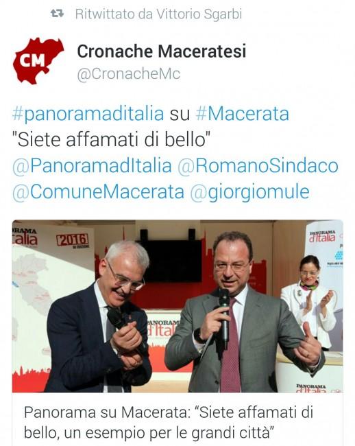 Vittorio Sgarbi condivide e ritwitta le parole di Giorgio Mulè