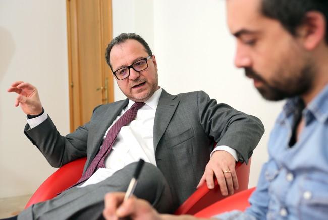 Giorgio Mulè in visita alla redazione di CM