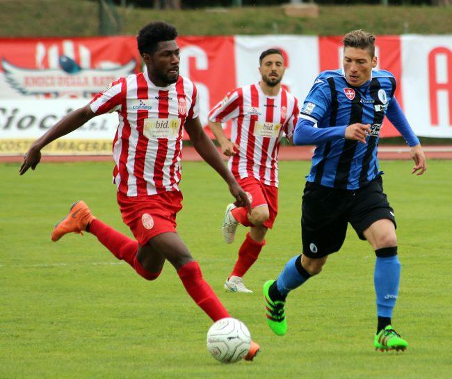 Daniel Kouko, attaccante della Maceratese prossimo a vestire la maglia dell'Avellino