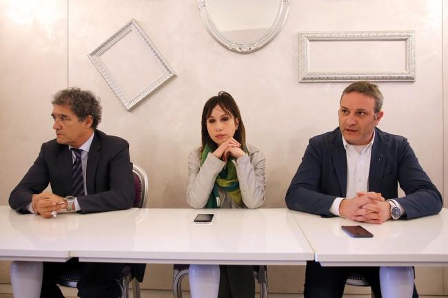 Conferenza stampa di alcuni esponenti del Pd di Macerata