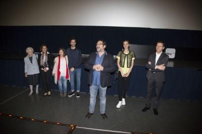 Alessandro Valori con il cast alla prima di ieri sera