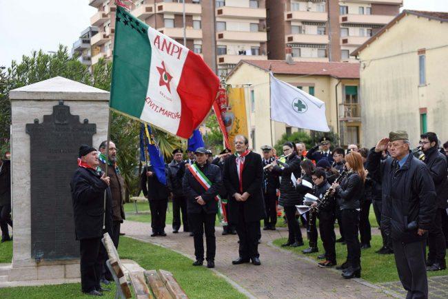Il sindaco Corvatta alla cerimonia del 25 Aprile