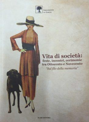 """La copertina del libro """"Vita di società"""" dell'associazione """"Le querce"""" di Cingoli"""