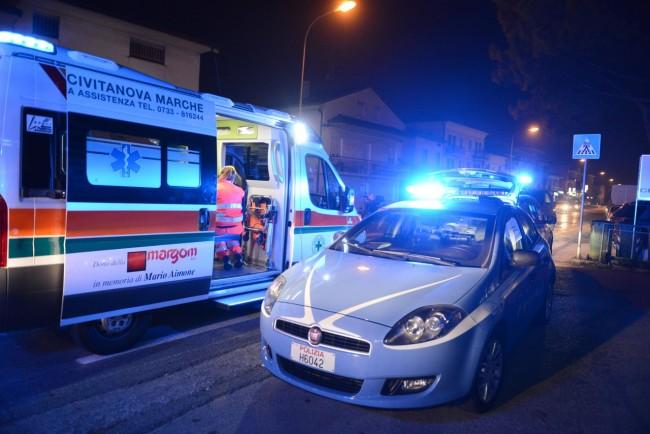 I soccorsi della Croce verde e l'arrivo della polizia