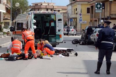 incidente in moto - via indipendenza soccorsi - civitanova (1)