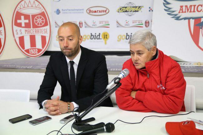 Mister Cristian Bucchi e la presidente Maria Francesca Tardella