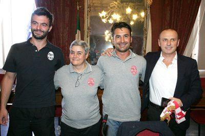 La presidente Tardella con Magi e Benfatto in campagni di Teloni
