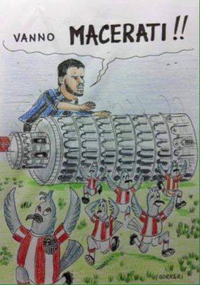 Una vignetta di sfottò di tifosi del Pisa