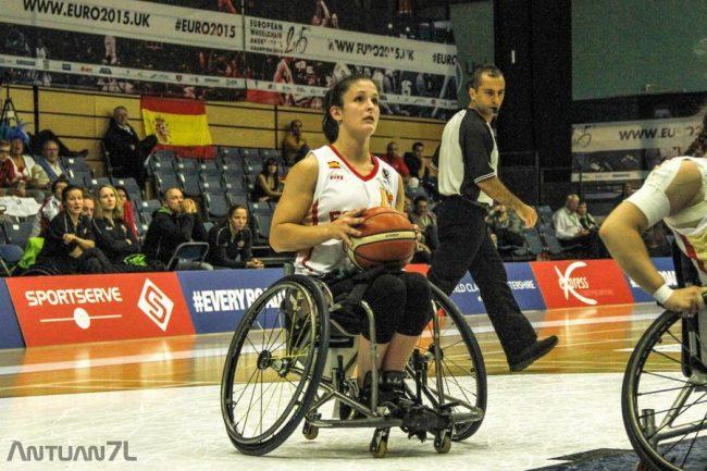 Un incontro dell'Europeo di basket in carrozzina 2015 arbitrato da Mauro Zamponi