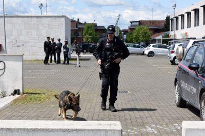 blitz-carabinieri-polizia-municipale-parco-cecchetti-unità-cinofila-rimozione-tende-civitanova-1-400x267