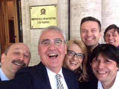 """Il selfie """"classico"""" di Carancini a Roma"""