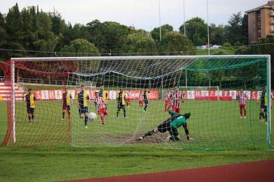 Il gol di Fioretti su rigore