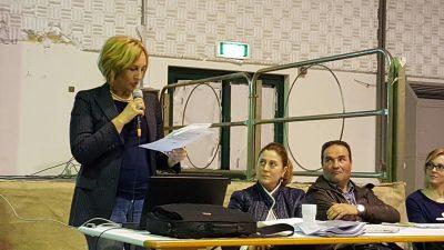 Deborah Pantana durante il suo intervento