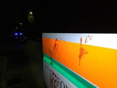 Il sangue sull'ambulanza della Croce Verde