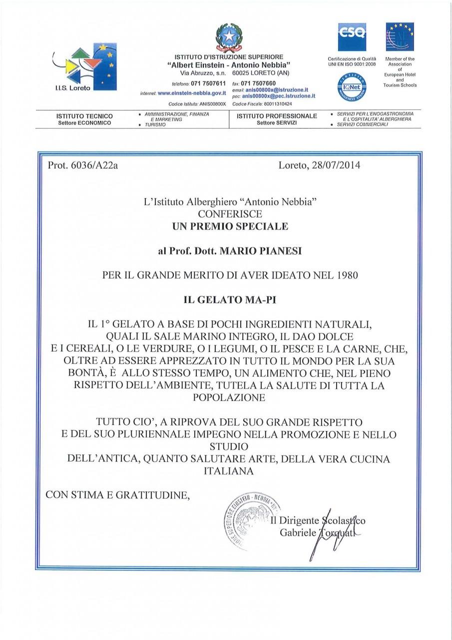 2014_07_28 attestato di merito Pianesi gelato MA-PI