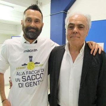 Il dg Paoletti con il patron Pierini