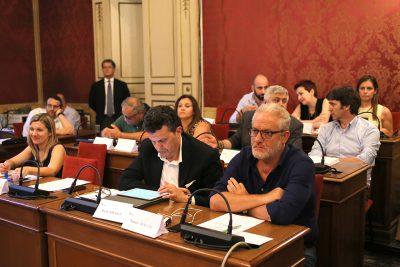 Un momento dell'ultimo Consiglio comunale con il gruppo Pd diviso sul testamento biologico