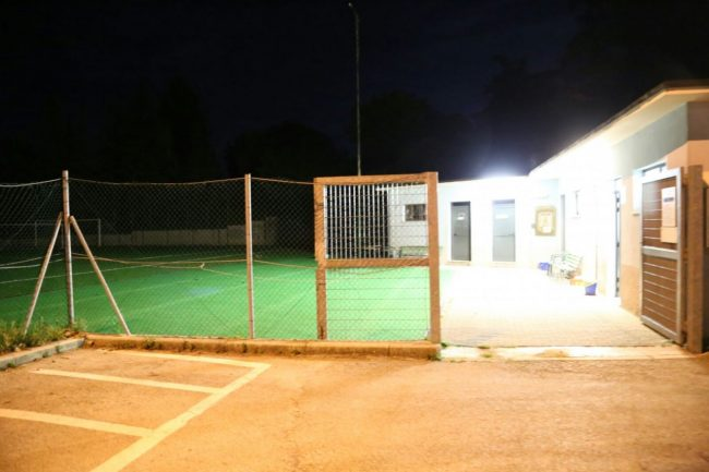Il campo di calcio di Appignano dove si è consumato