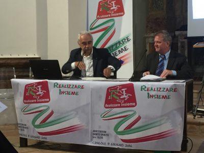 Il coordinatore nazionale del movimento, Nicola Izzo, e il presidente dell'assemblea, Eugenio Bravo