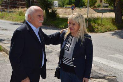 Il presidente della Provincia, Antonio Pettinari, e il sindaco di San Severino Rosa Piermattei