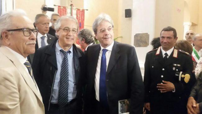Paolo Gentiloni con Francesco Massi
