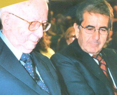 Enzo Biagi con Vittorio Merloni