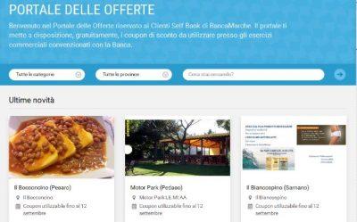 La schermata del portale delle offerte