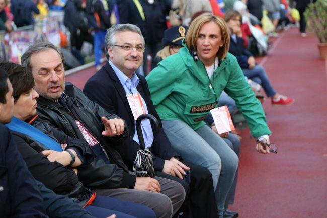Da sinistra Luca Marconi, Angelo Sciapichetti e Deborah Pantana