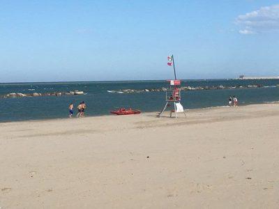 La spiaggia libera interessata