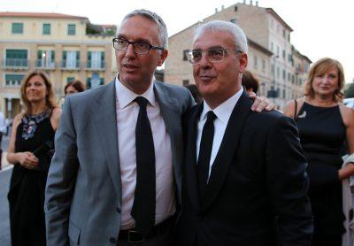 Da sinistra Luca Ceriscioli e Romano Carancini