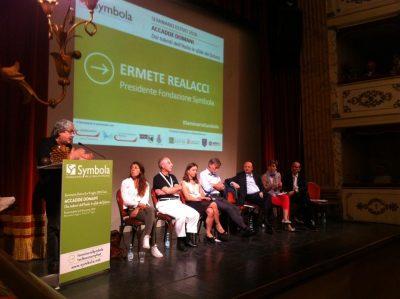 Ermete Realacci, Elisa Calessi, Graziano Delrio, Rossella Muroni, Ivan Lo Bello, Francesco Starace e Vincenzo Boccia