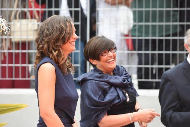 L'assessore regionale Manuela Bora assieme con Rosaria Ercoli