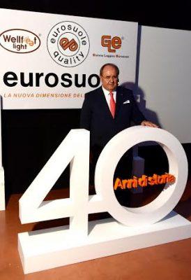 Germano Ercoli alla festa per i 50 anni della sua azienda