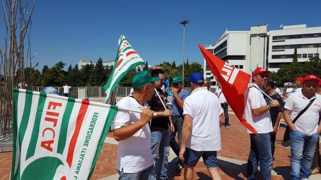 La protesta in Regione