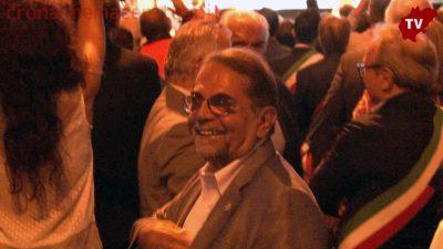 Mario Baldassarri all'inaugurazione della Quadrilatero