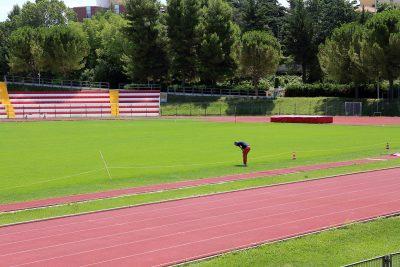 Lo stadio Helvia Recina pronto per l'esordio del tre settembre