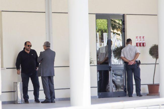 Giuseppe Cerolini questa mattina alla caserma della Finanza di Macerata