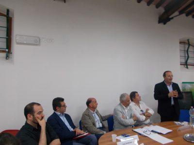 L'intervento del sindaco di Camerino Gianluca Pasqui