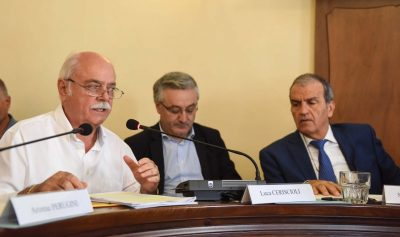Antonio Pettinari, Angelo Sciapichetti e Mario Morgoni
