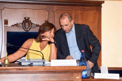 Il sindaco Corvatta assieme all'onorevole Renata Polverini