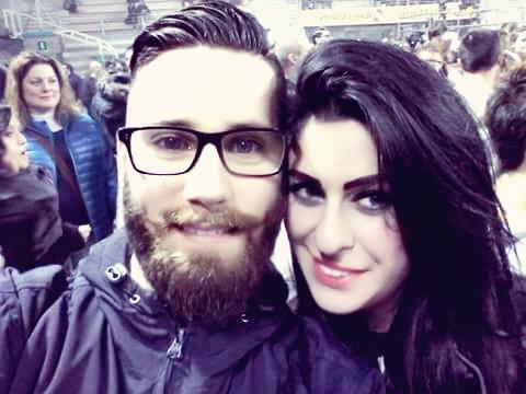 Lucia Salvatori con il fidanzato Mirko Migliozzi